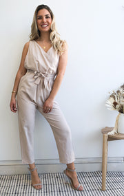 Canvas Jumpsuit - Beige