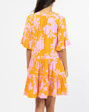 Dolma Dress - Orange Print