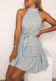 Mariee Dress - Blue Print
