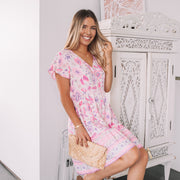 Mikah Dress - Pink Print