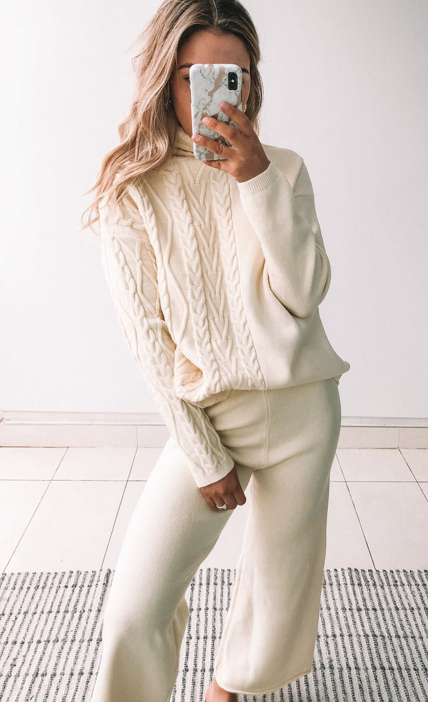 Monica Sweatpants - Cream