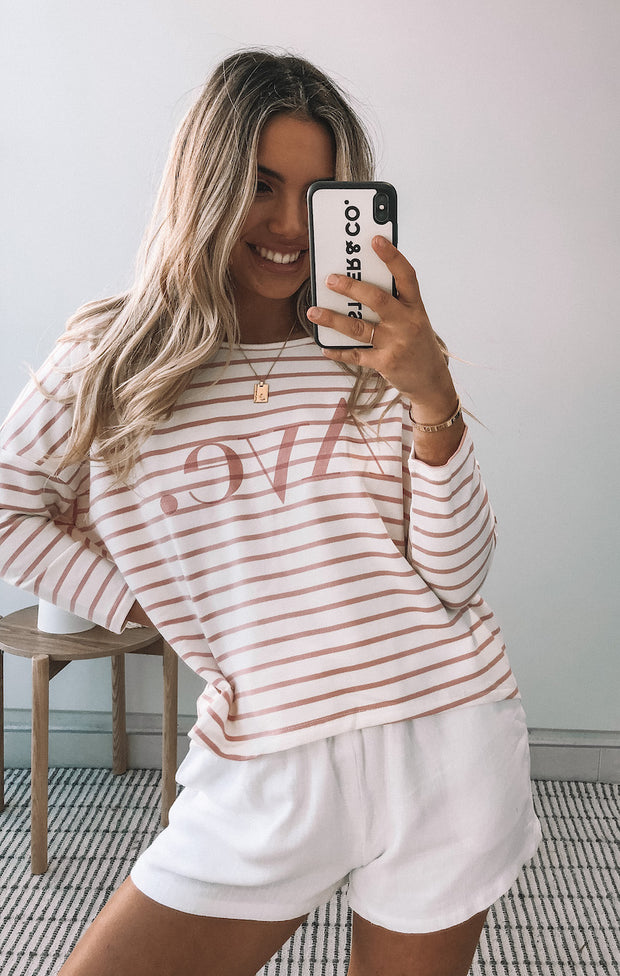Avemarie Top - Blush Stripe
