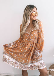 Asta Dress - Orange Print