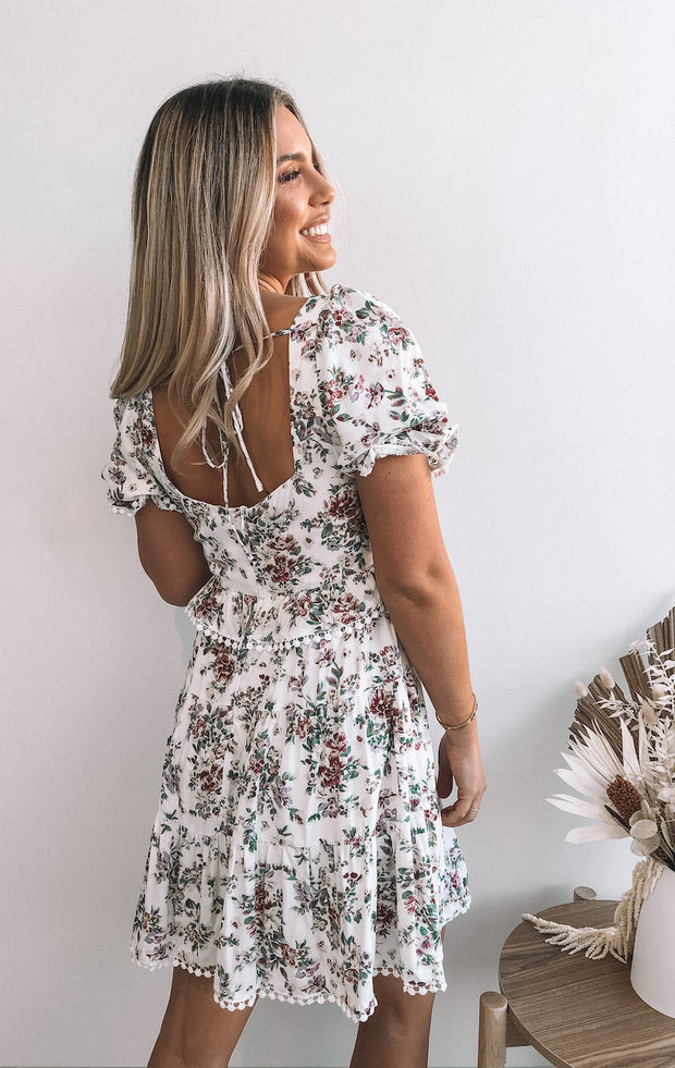 Alyse Dress - White Print