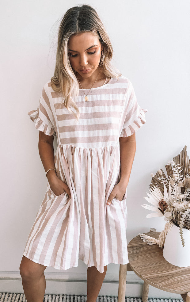 Bulla Dress - Pink Stripe