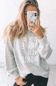 Brave New World Jumper - Grey