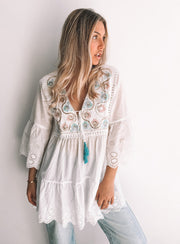 Newry Tunic - White