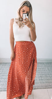 Flinta Skirt - Rust Print