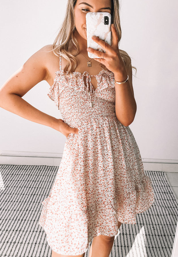 Hopeful Dress - Pink Print