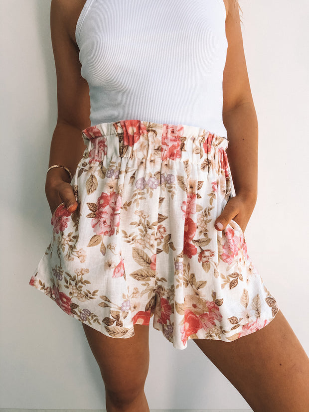 Celine Shorts - Cream Print