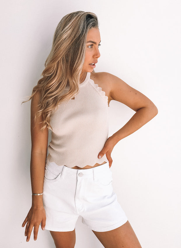 Shelley Crop Top - Beige