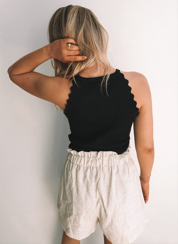 Shelley Crop Top - Black