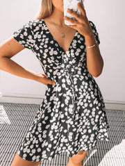 Rosta Dress - Black Print