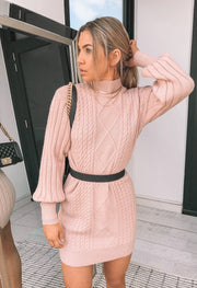 Rachelle Knit Dress - Blush