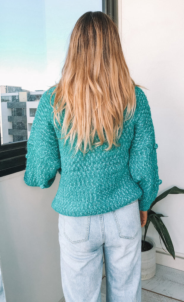 Shearing Knit - Teal