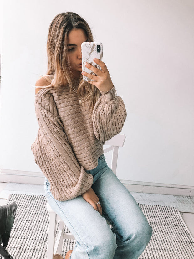 Noted Knit - Taupe