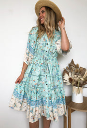Dominika Dress - Aquamarine