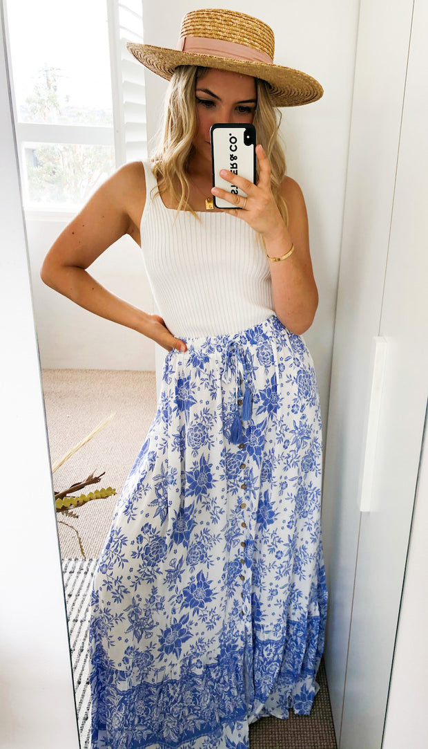 Tammy Skirt - Blue Print