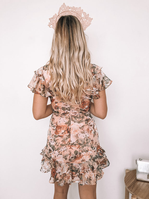 Briel Dress - Nude Floral
