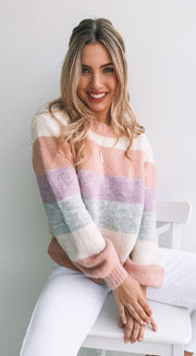 Pepa Knit - Peach Multi