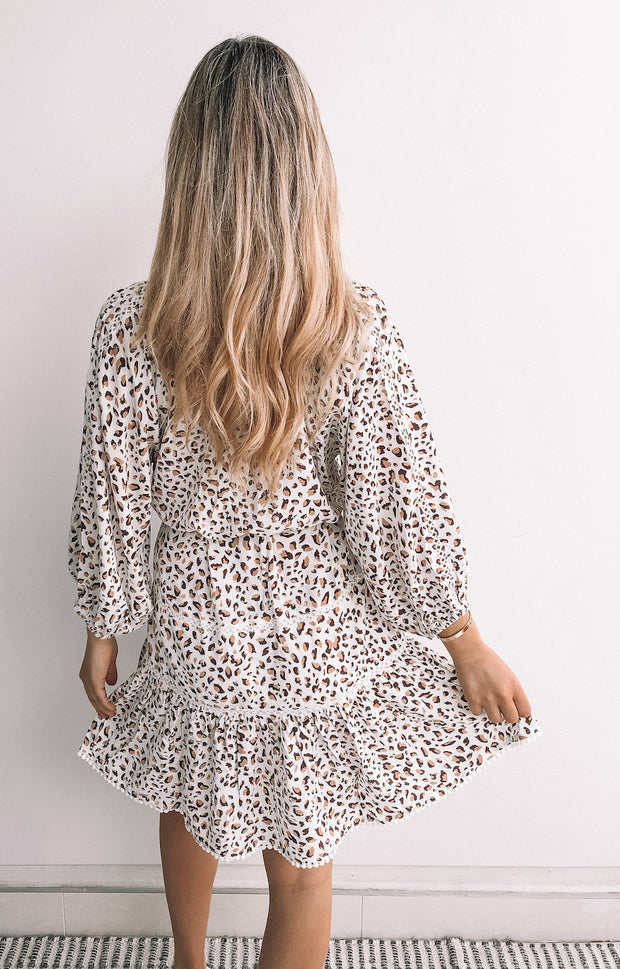 Evie Dress - White Print