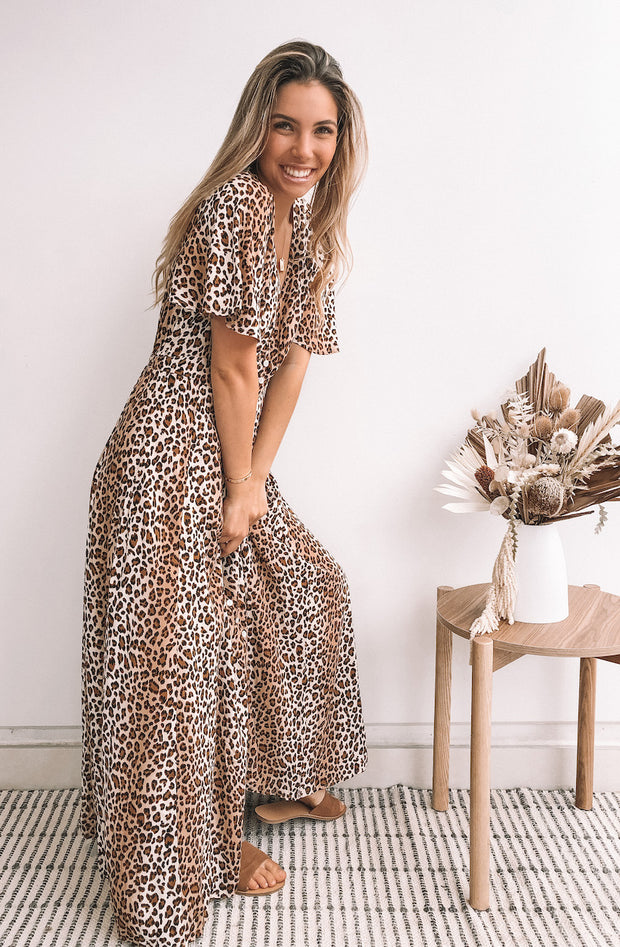 Ranchero Dress - Leopard Print