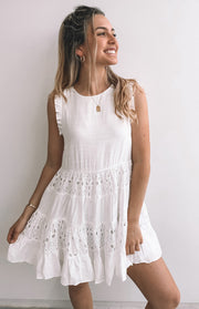 Petria Dress - White