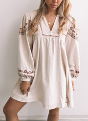 Folksie Dress - Beige