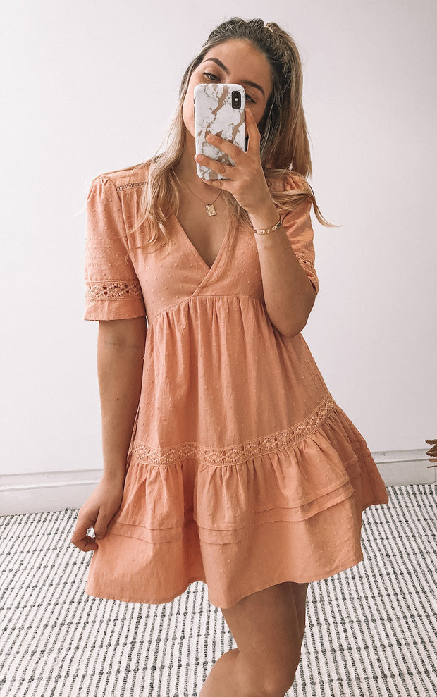 Broome Dress - Peach