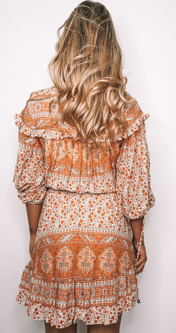 Taffie Dress - Orange Print