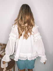 Sighted Blouse - White