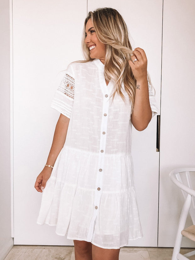 Burleigh Dress - White
