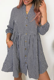 Evalyn Dress - Black Gingham