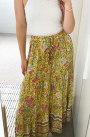 Hayden Skirt - Yellow Print