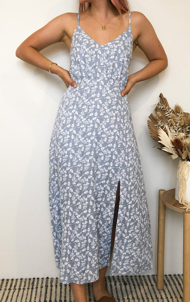 Kimberly Dress - Blue Print