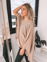 Quoted Top - Beige