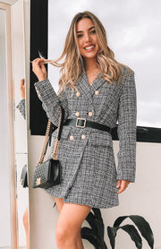 San Cisco Coat - Charcoal Print