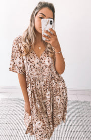 Polynesiana Dress - Beige Print