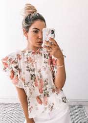 Elenora Top - White Print