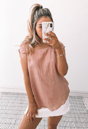 Aera Top - Dusty Pink