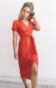 Cerise Dress - Red Print