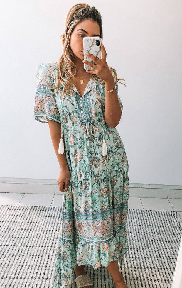 Muster Dress - Blue Print