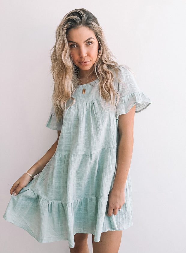 Bushel Dress - Sage