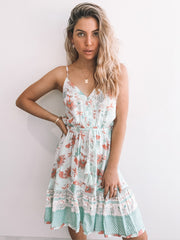 Sorrella Dress - Sage Print