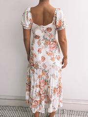 Sesame Dress - White Floral