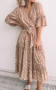 Stable Dress - Beige Print