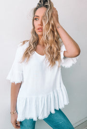 Homely Top - White