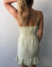 Shaded Dress - Olive Print