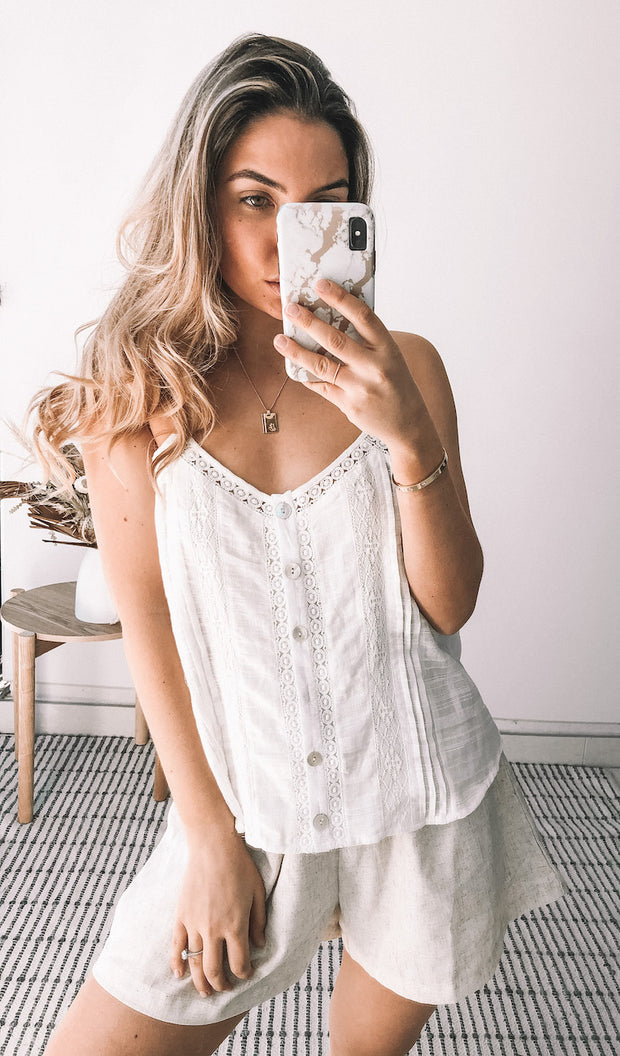 Licorice Cami - White