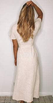 Tended Dress - Beige